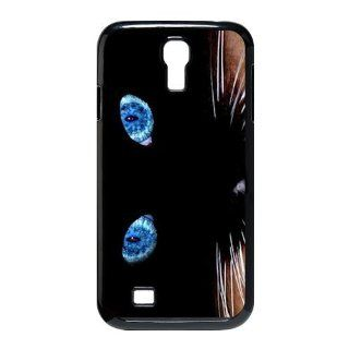 Custom Cat Eyes Cover Case for Samsung Galaxy S4 I9500 S4 797 Cell Phones & Accessories