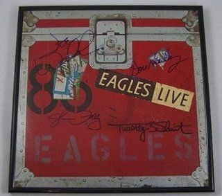 Eagles Live Group Original Signed Autographed Lp Record Album with Vinyl Framed Loa Entertainment Collectibles