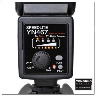 Yongnuo YN 467 Flash Speedlite Dedicated E TTL for Canon Canon 50D, 40D, 30D, 550D, 500D/Tli, 450D/Xsi, 400D/Xti, 350D, 1000D DSLR Cameras By Ghope  On Camera Shoe Mount Flashes  Camera & Photo