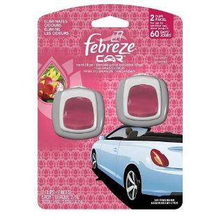 Febreze Car Vent Clips Air Freshener Thai Dragon Fruit 2 Ct (Pack of 8) Health & Personal Care