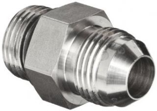 "Brennan 6400 06 06 O SS, Stainless Steel JIC Tube Fitting, 06MJ 06MORB Adapter, 3/8"" Tube OD x 9/16"" 18 O ring Boss, Male Flared Tube Fittings"