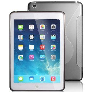 TPU Rubber Case Compatible with Apple� iPad� iPad� mini with Retina display (iPad� Mini 2) / Mini , Clear Grey S Shape Computers & Accessories