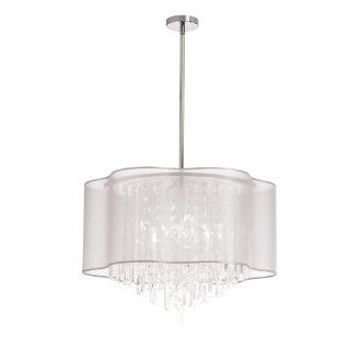 Dainolite Lighting ILL 206C PC 819 Modern 6 Light Chandelier, Polished Chrome