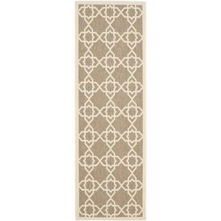Safavieh Indoor/ Outdoor Courtyard Brown/ Beige Rug (23 X 12)