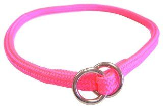 Hamilton 5/16 Inch x 16 Inch Round Braided Choke Nylon Dog Collar, Hot Pink (827 HP)  Pet Choke Collars