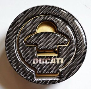 Ducati 848 1099 998 999 Real Carbon Fiber Fuel Tank Cap Filler Cover Pad Automotive
