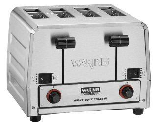 Waring Commercial WCT850 Heavy Duty Stainless Steel Switchable Combination 208 volt Toaster with 4 Slots Kitchen & Dining