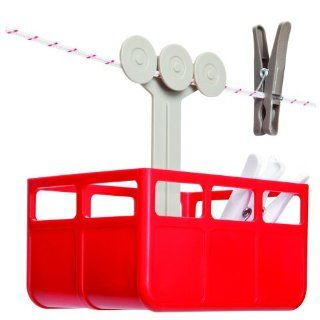 CABINA Cabina Designed Laundry Pegs Clothespins Holder Stand Basket Storage Red/White   Home And Garden Products