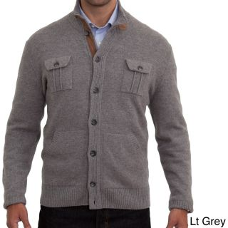 Luigi Baldo Luigi Baldo Italian Made Mens Cashmere Blend Cardigan Grey Size Medium