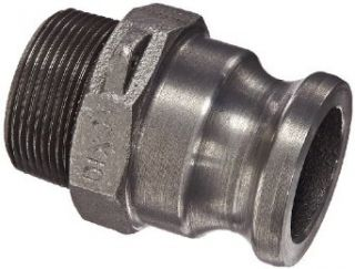 "Dixon Valve 150 F MI Unplated Iron Boss Lock Type F Cam and Groove Fitting, 1 1/2"" Male Adapter x 1 1/2"" NPT Male Camlock Hose Fittings"