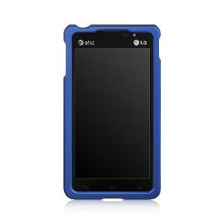 Luxmo CRLGVS870BL Unique Durable Rubberized Crystal Case for LG Lucid 2 VS870   Retail Packaging   Blue Cell Phones & Accessories