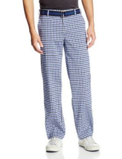 IZOD Men's Flat Front Straight Fancy Plaid Golf Pants at  Men�s Clothing store