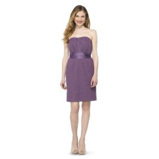 TEVOLIO Womens Lace Strapless Dress   Plum Spice   8