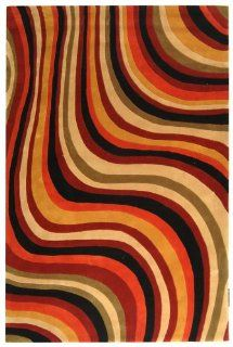 "2'6"" x 12' Runner Safavieh Rug RD855A 212 Red/Black Color Hand Tufted China ""Rodeo Drive Collection"""