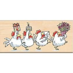 Penny Black Mounted Rubber Stamp 2.25 X5   Cluck