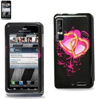 Reiko 2DPC MOTXT862 147 Durable Snap On Protective Case for Motorola Droid 3 Premium   1 Pack   Retail Packaging   Black Cell Phones & Accessories