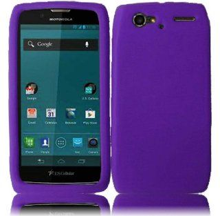 For Motorola Yangtze Electrify 2 XT881 XT885 XT886 XT889 MT887 Silicone Jelly Skin Cover Case Dark Purple Cell Phones & Accessories