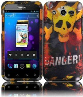 Danger Hard Case Cover for Huawei Mercury Honor M886 Cell Phones & Accessories