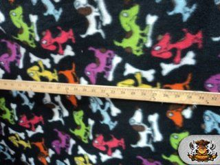 Fleece Fabric Printed Animal *DOG BONE* Fabric By the Yard