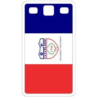 Cleveland Ohio OH City State Flag White Samsung Galaxy S3   i9300 Cell Phone Case   Cover Cell Phones & Accessories