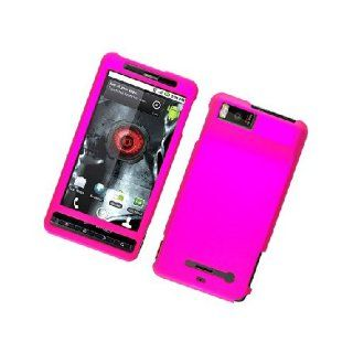 Motorola Droid X MB810 X2 MB870 Hot Pink Hard Cover Case Cell Phones & Accessories
