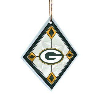 NFL Green Bay Packers Art Glass Ornament  Sports Fan Hanging Ornaments  Sports & Outdoors
