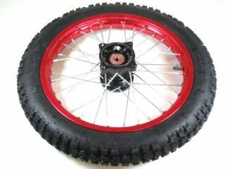"14"" RED FRONT RIM WHEEL HONDA CRF50 70 SSR SDG 107 15mm 14CFR Automotive"