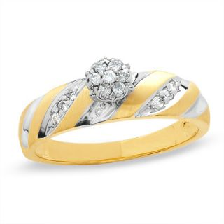 CT. T.W. Diamond Engagement Ring in 10K Two Tone Gold   Zales