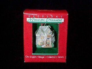Shop Old English Village Family Home 1st in the series 1988 miniature hallmark ornament at the  Home D�cor Store. Find the latest styles with the lowest prices from Hallmark