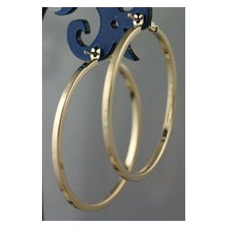 "14K Solid Yellow Gold 30mm(1.18"") Italian Classic Square Tube Hoop Earrings 2.36 Gram Jewelry"