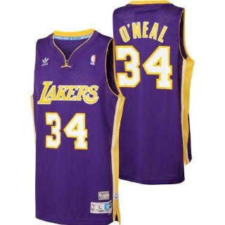Shaquille O'neal Jersey Adidas Purple Throwback Swingman #34 Los Angeles Lakers Jersey  Sports Fan Jerseys  Sports & Outdoors