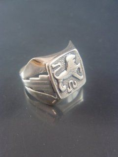 Israel Delini Designers Hand Made Art Lion Signet Ring Solid Silver Sterling Ring  Other Products