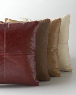 Red Leather Pillow   Massoud