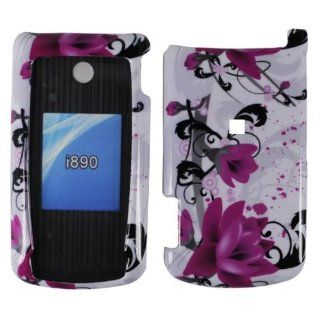 Purple Lily Hard Case Cover for Motorola i890 Cell Phones & Accessories