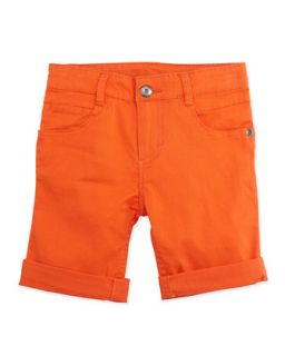 Little Waver Soft Twill Rolled Shorts, Orange, 5 7