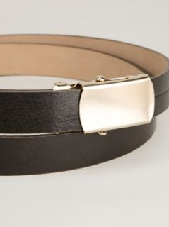 Brunello Cucinelli Slim Leather Belt   Stockholm Market