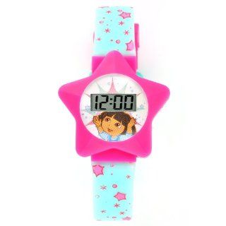 Dora the Explorer Kids' DTE899G Star Case Pink and blue strap Digital Watch Watches