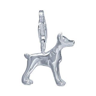 VINANI brand Germany 925 Sterling Silver Charm Pendant Dog Dobermann HUN Jewelry