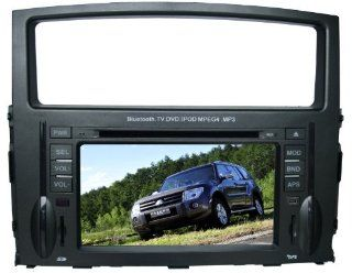 8 inch car dvd gps for Mitsubishi pajero v97/v93 (2008 2012) with steering wheel control+phonebook+3G internet + ipod+Vcdc+dualzone+wallpaper+free map  Vehicle Dvd Players
