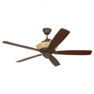 Monte Carlo 5RDRRB Royal Danube 5 Blade Ceiling Fan with Remote, Uplight, Roman Bronze Blades Sold Separately