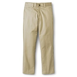 French Toast Boys School Uniform Flat Front Pant   Khaki 14