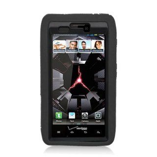 Aimo MOTXT912PCMX001S Unique Hybrid Progressive Armor Rugged Case with Kickstand for Motorola Droid RAZR XT912   1 Pack   Retail Packaging   Black Cell Phones & Accessories