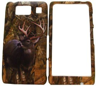 VERIZON MOTOROLA DROID RAZR MAXX HD XT926M TREE OAK WILD DEER CAMO CAMOUFLAGE HUNTER RUBBERIZED HARD COVER CASE SNAP ON Cell Phones & Accessories