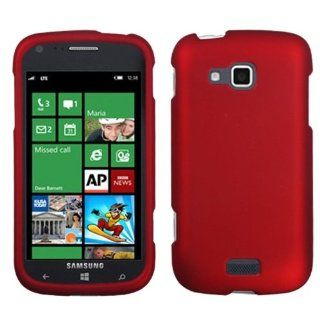 Asmyna SAMI930HPCSO202NP Titanium Premium Durable Rubberized Protective Case for Samsung ATIV Odyssey i930   1 Pack   Retail Packaging   Red Cell Phones & Accessories