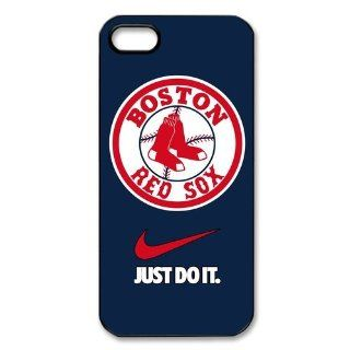 Personalized Desgin MLB Boston Red Sox Iphone 5 5S Just Do It Cover Case Cell Phones & Accessories