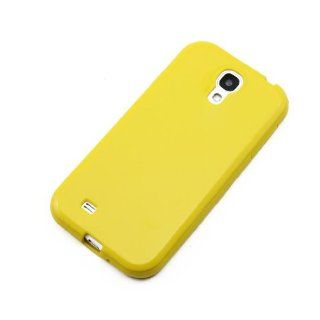 ChineOn Soft Glossy TPU Silicone Gel Cover Case Skin for Galaxy S4 S IV i9500(Yellow) Cell Phones & Accessories