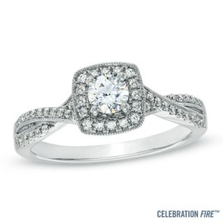Celebration Fire™ 1/2 CT. T.W. Diamond Vintage Style Twist