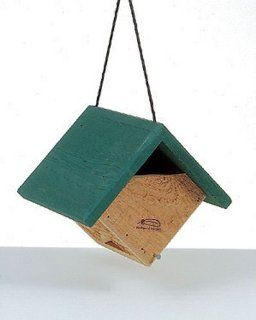 Backyard Designs   EVERGREEN CAROLINA WREN HOUSE   western Red Cedar   00220 9  Bird Houses  Patio, Lawn & Garden