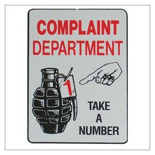 Complaint Department Parking Sign  Other Products