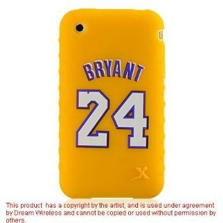 Kobe Bryant #24 Los Angeles Lakers Yellow Jersey Design Silicone Skin Cover Case for Apple iPhone 3G / 3G S Cell Phones & Accessories